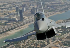 Eurofighter Typhoon over Abu Dhabi