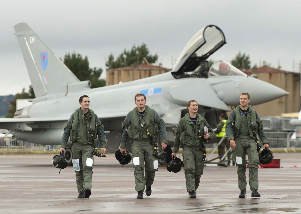 The first landings by 6 Squadron Eurofighter Typhoon at RAF Leuchars 10th September 2010