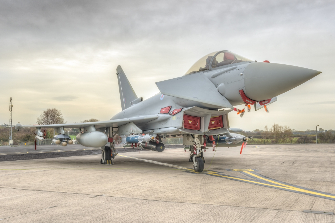 Typhoon in mutil-role fit with Brimstone missile and Paveway IV