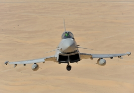 RAF 3 (F) Squadron Typhoon in the Emerates