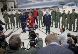 Chancellor Merkel visits Eurofighter Squadron in Nörvenich