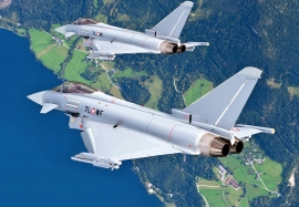 Eurofighter Typhoon Secure Airspace during the World Economic Forum 2015 in Davos