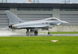 Austrian Airforce Eurofighter\'s taking off