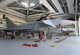 Eurofighter maintenance, QRA, pilot walkarounds at JG-74 Neuburg