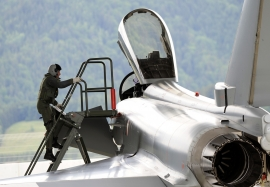 Austrian Airforce Eurofighter at Zeltweg, Practise QRA and Maint