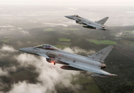 Eurofighter Typhoons at Gioia del Colle