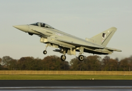 RAF 17 Squadron Typhoon with Meteor missiles