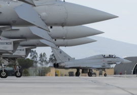 ITAF Eurofighter Typhoon ground operations at Grosseto, Italy
