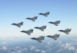RAF First Typhoon Diamond Nine Formation with 3, 17 and 29 Sqns
