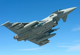 Eurofighter Typhoon featuring the latest weapons fit