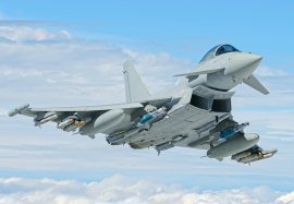 Eurofighter Typhoon BS117 with full P3E weapons fit