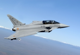 Spanish Air Force twin seater Eurofighter Typhoon from ALA-11 ba