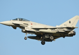Italian Air Force Typhoon are equipped with AMRAAM…