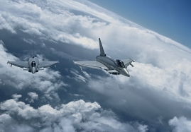 EADS D DA1 and DA5 flying in formation over Germany during a tes